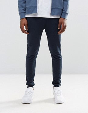 ASOS Super Skinny Joggers In Navy