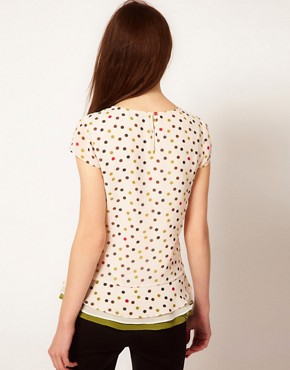 Image 2 ofTed Baker Spot Print Top