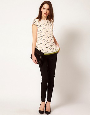 Image 4 ofTed Baker Spot Print Top