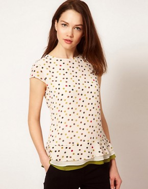 Image 1 ofTed Baker Spot Print Top