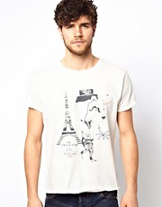 Scotch &amp; Soda T-Shirt With Paris Print