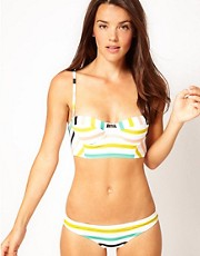 Nookie Beach Club House Stripe  Bikini Set