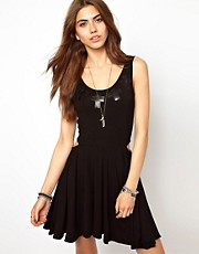 Your Eyes Lie Stud Cut Out Dress