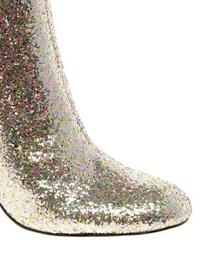 Image 2 ofASOS ALL THAT JAZZ Glitter Ankle Boots