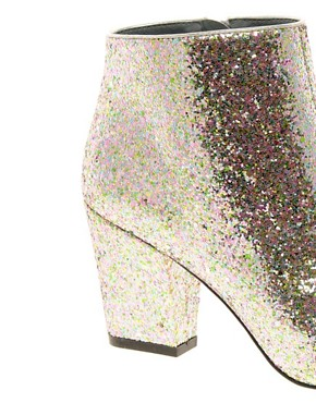 Image 3 ofASOS ALL THAT JAZZ Glitter Ankle Boots