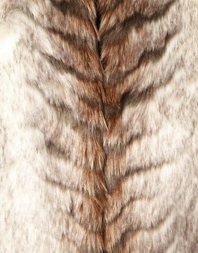 Image 3 ofA Wear Collarless Longline Faux Fur Coat