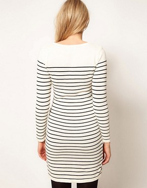 Image 2 ofASOS Maternity Exclusive Knitted Dress In Breton Stripe