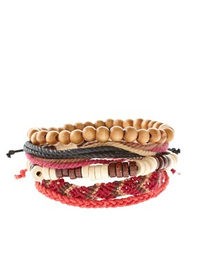 Image 1 ofASOS Apache Bracelet Pack