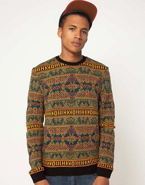 Image 1 of ASOS Reverse Fairisle Sweater