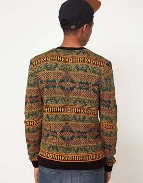 Image 2 of ASOS Reverse Fairisle Sweater