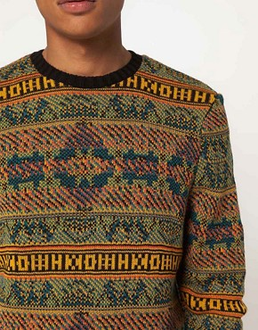 Image 3 of ASOS Reverse Fairisle Sweater
