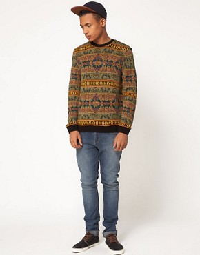 Image 4 of ASOS Reverse Fairisle Sweater