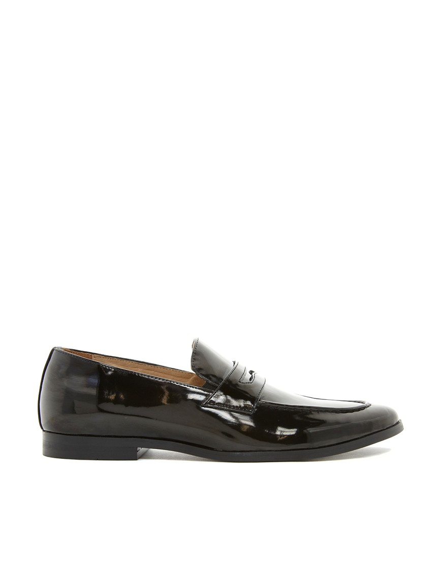 Image 4 of ASOS Penny Loafers in Black Patent