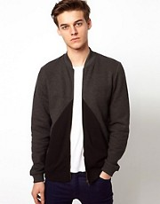 ASOS Bomber With Cut And Sew Triangle