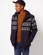 ASOS Jacket With Fairisle Trim