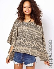 ASOS PETITE Aztec Oversized Top