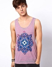 ASOS Vest With Kaleidoscope Print And Burnout Effect