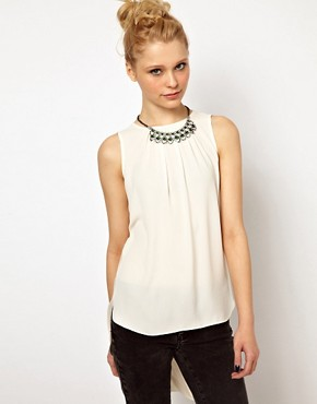 Image 1 of River Island Drape Back Top With Necklace