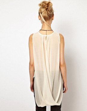 Image 2 of River Island Drape Back Top With Necklace