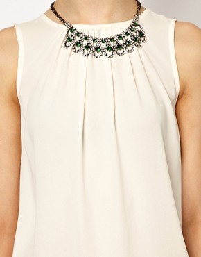 Image 3 of River Island Drape Back Top With Necklace