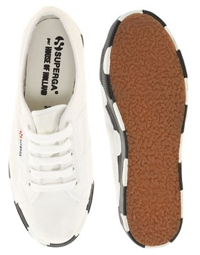 Image 3 ofSuperga House of Holland Collaboration Black &amp; White Dotted Flatforms