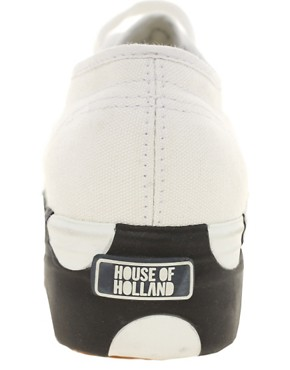 Image 4 ofSuperga House of Holland Collaboration Black &amp; White Dotted Flatforms