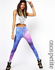 ASOS PETITE Exclusive Leggings In Galaxy Print