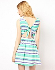 Lovestruck Stripe Open Back Dress