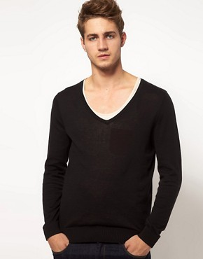 Image 1 ofASOS V Neck Jumper
