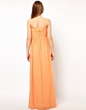 Image 2 ofJarlo Pleated Bandeau Maxi Dress