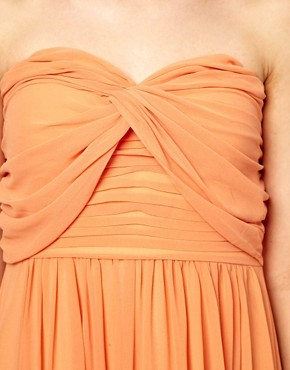 Image 3 ofJarlo Pleated Bandeau Maxi Dress