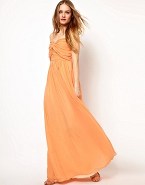 Image 4 ofJarlo Pleated Bandeau Maxi Dress