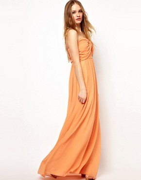 Image 1 ofJarlo Pleated Bandeau Maxi Dress