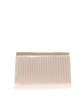 Image 1 ofKaren Millen Pleated Satin Clutch