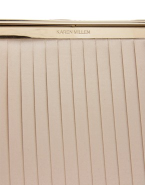 Image 4 ofKaren Millen Pleated Satin Clutch
