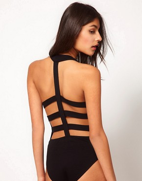Image 2 ofASOS PETITE Exclusive Body With Embellished Cross And Back Detail