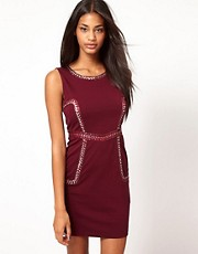 Little Mistress Embellished Panel Pencil Dress