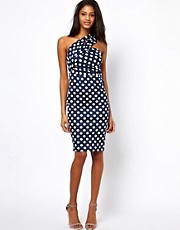 ASOS One Shoulder Pencil In Spot