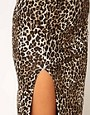 Image 3 ofASOS Animal Maxi Skirt with Thigh High Split