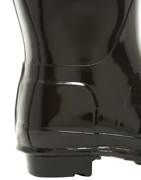 Image 2 ofHunter Original Short Black Gloss Wellington Boots