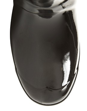 Image 4 ofHunter Original Short Black Gloss Wellington Boots