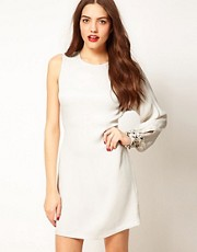 French Connection Asymmetric Embellished Dress
