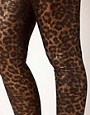 Image 3 of ASOS CURVE Legging In Metallic Animal