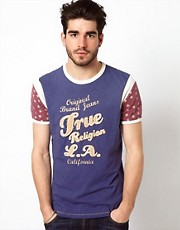 True Religion - All American - T-shirt con stampa applicata