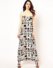 Boulee Strapless Maxi Dress in Print