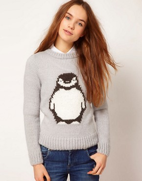 Image 1 ofA Wear Penguin Jumper