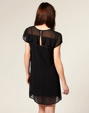 Image 2 ofASOS MATERNITY Frill Front Dress with Short Sleeves