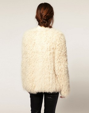 Image 2 ofASOS Premium Curly Shearling Coat