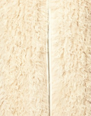 Image 3 ofASOS Premium Curly Shearling Coat