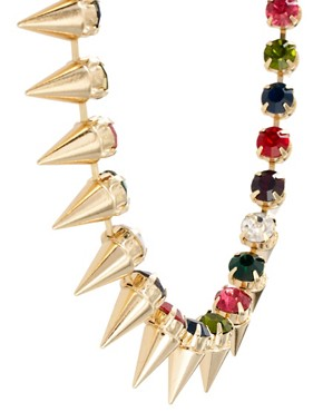 Image 4 ofASOS Signature Spike Necklace